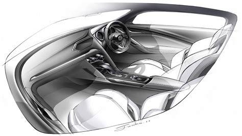 Mazda Takeri Concept Interior Design Sketch