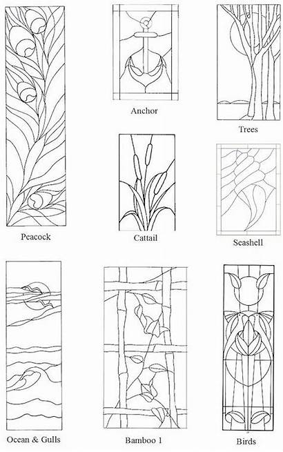 Stained Glass Patterns Peacock Birds Cattail Bamboo