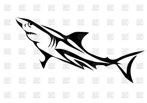 Great White Shark Clipart Black And White Wwwpixshark