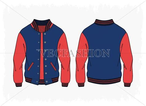 women sport varsity jacket vector illustrations