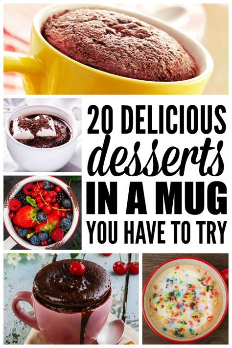 desserts made in a mug 20 desserts in a mug you have to try