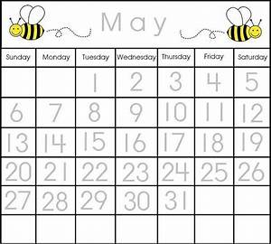 May traceable calendar printable calendar items pinterest for Preschool calendar template printables