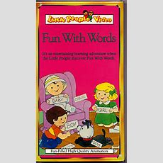 "No Number  ""fun With Words"" Book & Vhs"