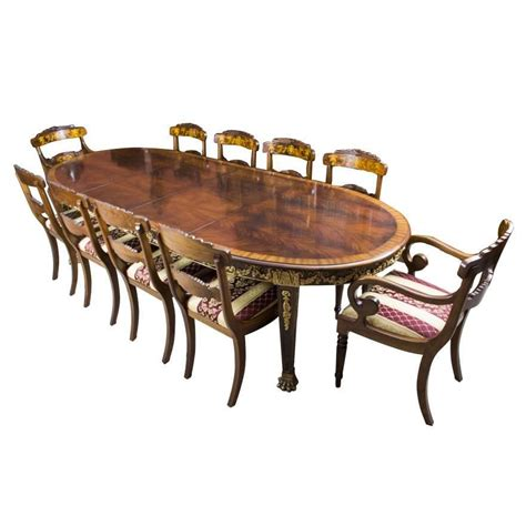 antique dining table and chairs antique flame mahogany ormolu dining table and ten chairs