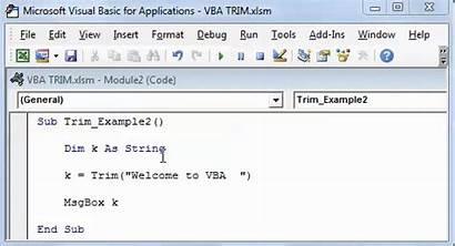 Trim Vba Output Excel Function