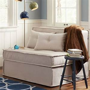 affordable sleeper chairs ottomans small space With small sectional sofa apartment therapy