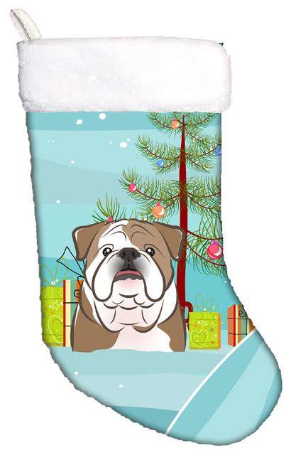 bulldog stocking holders tree and bulldog contemporary and