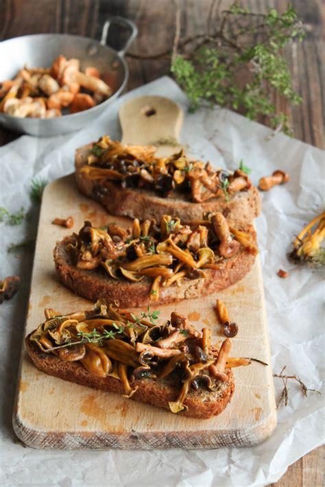 tartines aux champignons des bois vegan aime mange