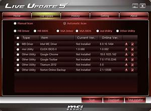 Msi update center   welcome to msi service and support