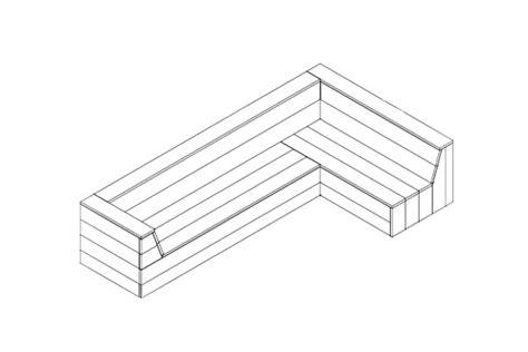 hoekbank steigerhout zelf maken tekening bouwtekening steigerhout hoekbank