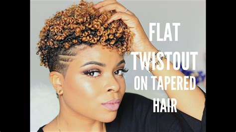 natural hair flat twists  tapered cut youtube