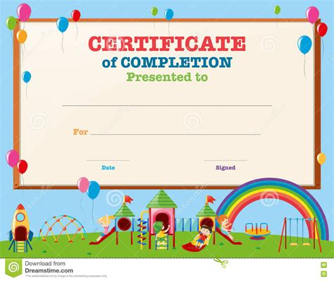 certificates of completion for kids templates clipart kid certificate pencil and in color