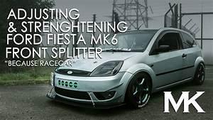 Ford Fiesta Mk6 : adjusting and strengthening ford fiesta mk6 front splitter ~ Dallasstarsshop.com Idées de Décoration