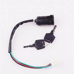 4 Wires 4 Pin Quad Atv Ignition Key Switch Fit 50