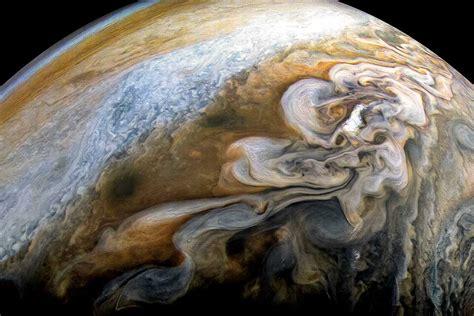 Stunning shot of Jupiter's swirling storms taken by Juno ...