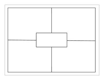 four square writing template four square squares and templates on