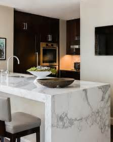granite topped kitchen island marble waterfall island modern kitchen elms interior