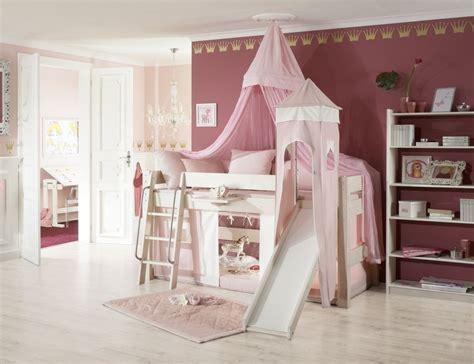 Kinderzimmer Mädchen Massiv by Prinzessinnen Hochbett Mit Rutsche Weiss Rosa
