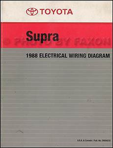 1988 Toyota Supra Wiring Diagram Manual Factory Reprint