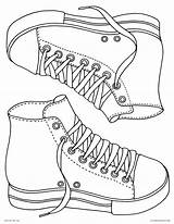 Coloring Pages Sneakers Blank Printable Converse Adults Culture Pop Down Stars sketch template