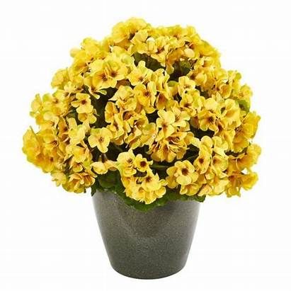 Geranium Yellow Artificial Plant Uv Resistant Indoor