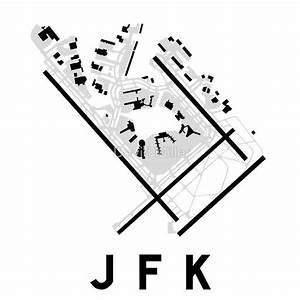 Jfk Airport Diagram Poster Airport Jfk Civil Aviation