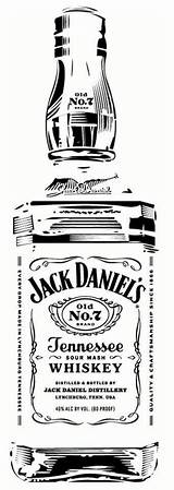 Jack Daniels Clipart Bottle Whiskey Stencils Pyrography Silhouette Stencil Clip Whisky Tattoo Garrafa Sketch Cricut Glass Cameo Vector Projects Templates sketch template