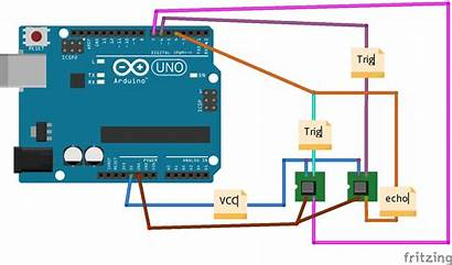 Arduino Input Sensors Sensor Ultrasonic Uno Trig