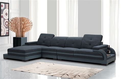 Divani Casa 5132 Modern Fabric & Bonded Leather Sectional