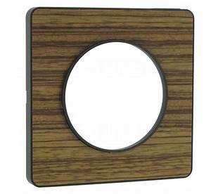 Plaque Schneider Odace : plaque schneider electric odace touch 1 poste zebrano ~ Dallasstarsshop.com Idées de Décoration