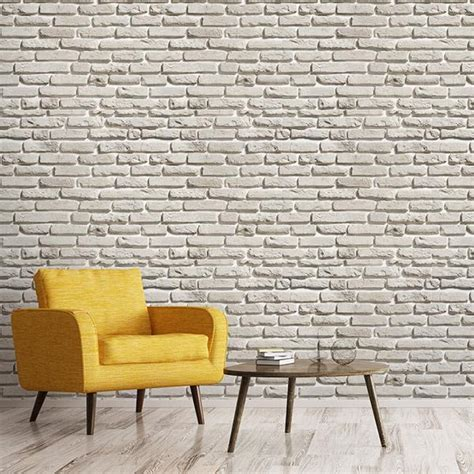 Update Your Decor With This Gray Brick Peel And Stick Wallpaper by Peel And Stick Removable Wallpaper Walls Need 174