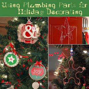best places to get christmas ornaments adorable ornaments made from plumbing parts allfreechristmascrafts