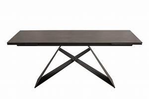 Pied De Table Metal Design : table contemporaine gris lave et pied design noir m tal ~ Melissatoandfro.com Idées de Décoration