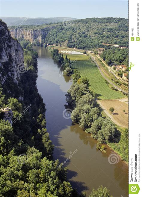 lot river valley stock image image  water france