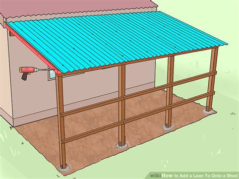 how to build a lean to shed 6 ways to add a lean to onto a shed wikihow