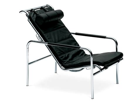 chaise longue en cuir design chaise longue rembourrée en cuir genni by zanotta design