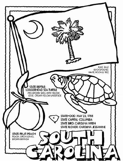 Carolina Coloring South Pages Crayola State Symbols