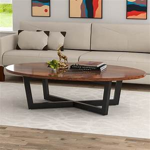 Preston, Oval, Top, Wooden, Coffee, Table