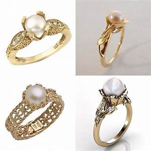 Best of the bee pearl engagement ring tips and ideas for Pearl engagement ring with wedding band