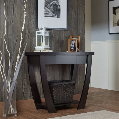 entryway table modern console table for entryway modern black narrow storage