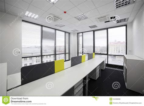 White Brand New Interior Of Office Royalty Free Stock