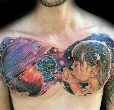 bubble tattoos  men circular design ideas
