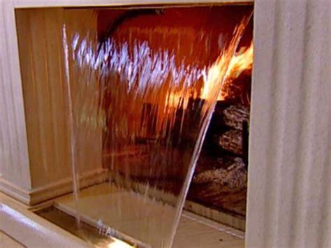 waterfall fireplace video hgtv