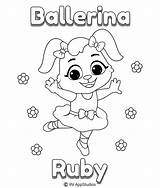 Coloring Pages Ruby Ballerina Printable Print sketch template