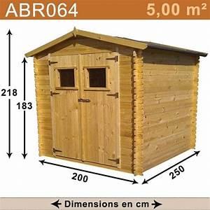 Abri De Jardin Moins De 5m2 : abri de jardin bois 5 00 m2 trigano store ~ Edinachiropracticcenter.com Idées de Décoration