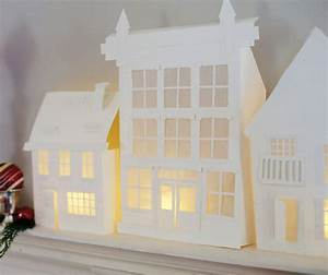 crooked house: Paper Houses and Towns (Templates and Cut ...