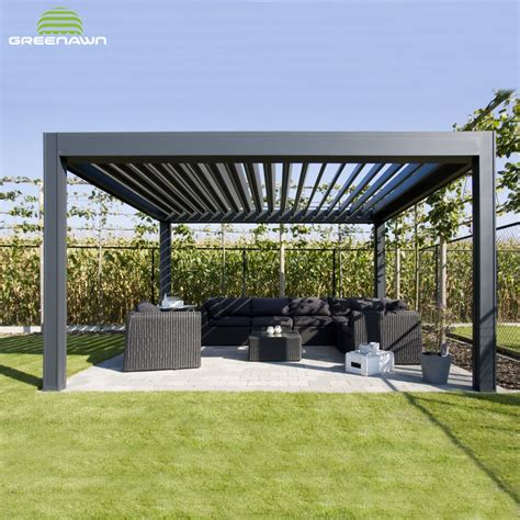 Aluminum Gazebo Kits by Louvered Roof Pergola Kits 12 300 About Roof
