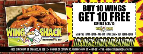 wing shack restaurant bar  orlando fl local