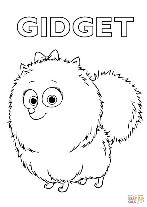 gidget   secret life  pets coloring page  printable coloring pages