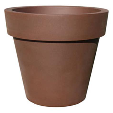 pot de fleurs ikon en plastique rouille castorama